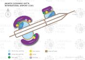 Jakarta Soekarno-Hatta International Airport map
