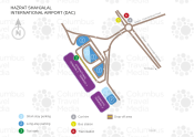 Hazrat Shahjalal International Airport map