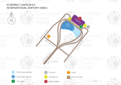 Kunming Changshui International Airport map