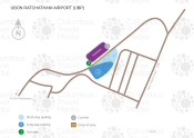 Ubon Ratchathani Airport map