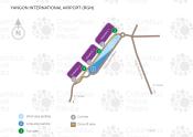 Yangon International Airport map